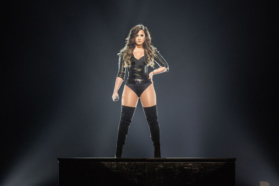 Demi Lovato performs at The Forum in Inglewood, California.
