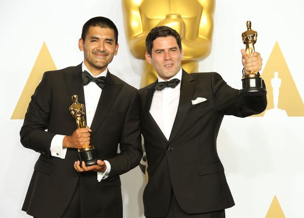 """Bear Story,"" an 11-minute film from Chilean filmmakers Gabriel Osorio and Pato Escala, won the Oscar for Best Animated"