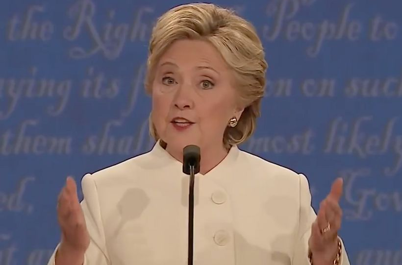 Hillary Clinton at third and final 2016 presidential debate moderated by Fox News' Chris Wallace.