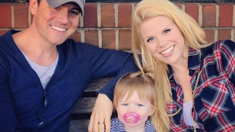 <strong>Megan Hilty, Brian Gallagher and daughter, Viola</strong>