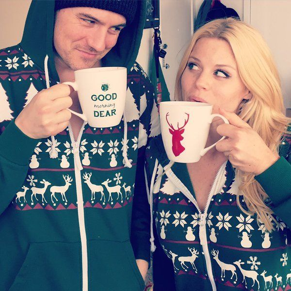 Megan Hilty and Brian Gallagher in the Christmas Spirit