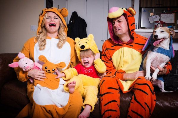 Hilty, Brian and Viola Enjoy Another Holiday: Halloween 2016