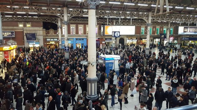 Southern Rail has been accused of deliberately sabotaging its services. File picture of stranded commuters...
