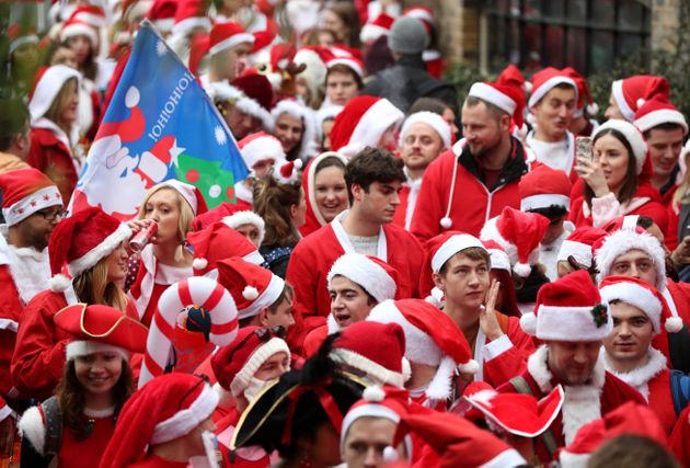 Thousands head to the Santacon Christmas