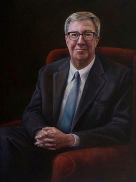 Pépin's portrait of Ottawa Mayor Jim Watson is on display at Ottawa's City Hall.
