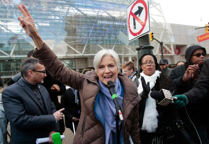 Jill Stein rallied supporters and condemned a court decision to halt Michigan's electionrecount in Detroit on Saturday.
