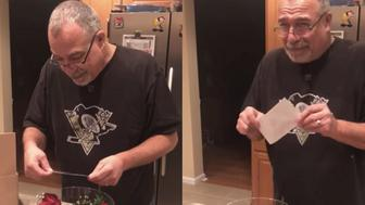 Die-hard Penn State fan Dean Yockey broke down in tears when surprised with tickets to watch his favorite team play in the Rose Bowl