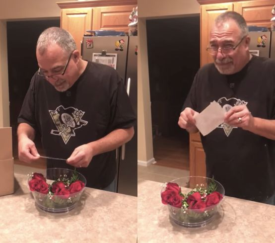 Lifelong Penn State fan Dean Yockey broke down in tears when surprised with tickets to watch his favorite team play in the Ro