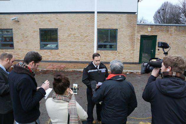 Chief Inspector Mark Stanley holds a press conference about the two fatal stabbings in Sneinton,