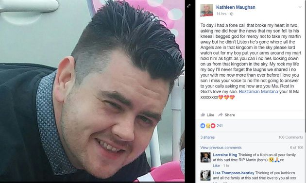 Martin Maughan who has been named as one of the men who has been stabbed to death in