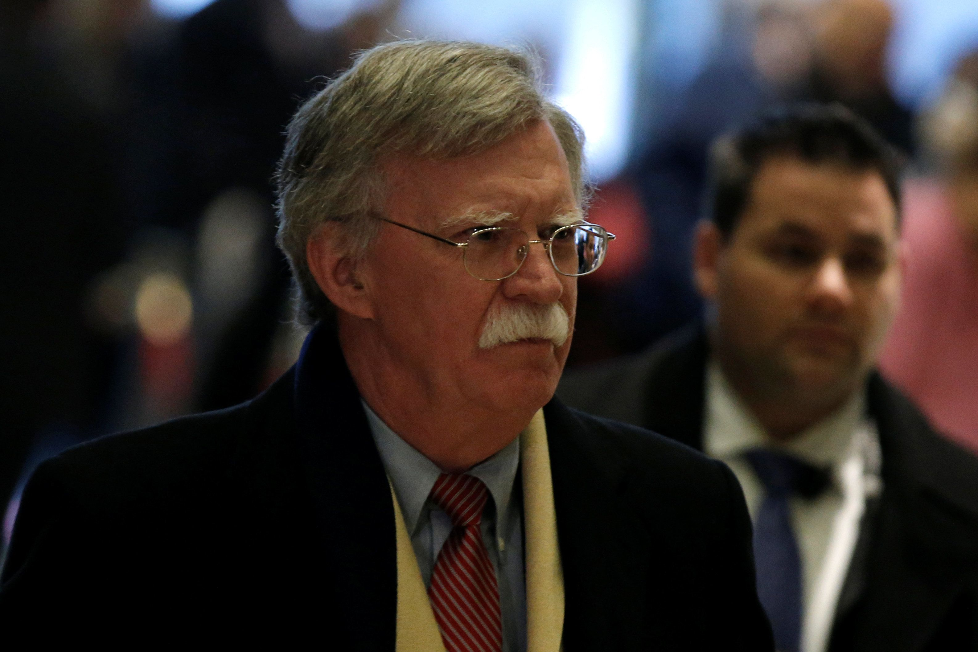 Former U.S. Ambassador to the United Nations John Bolton arrives for a meeting with U.S. President-elect Donald Trump at Trump Tower in New York, U.S., December 2, 2016.   REUTERS/Mike Segar