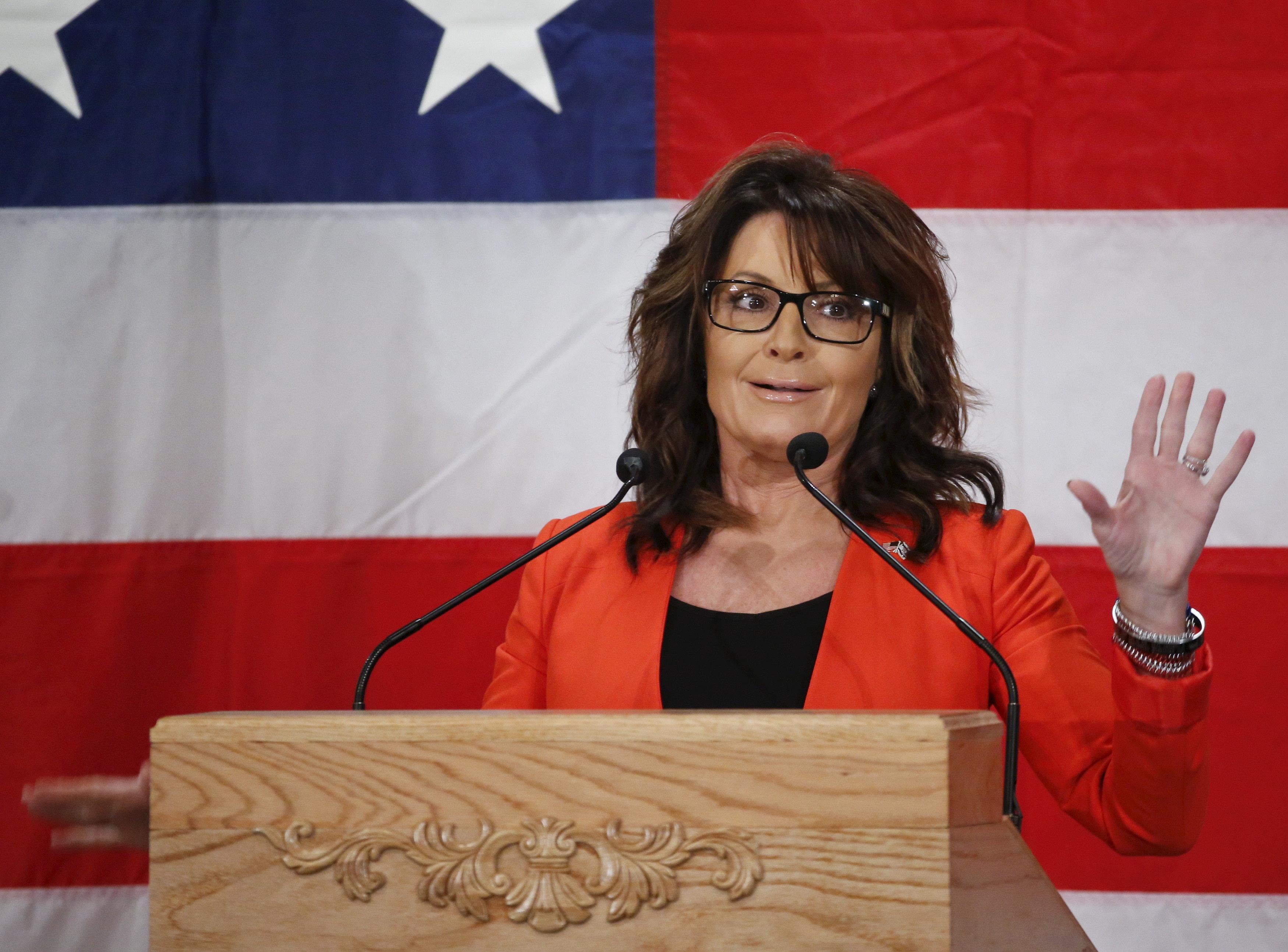 Sarah Palin promises to keep an eye on Russia.