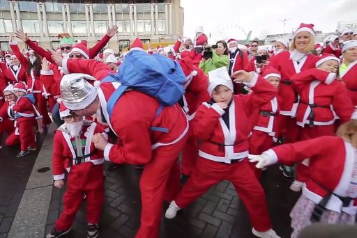 Father Christmas Mannequin Challenge Brings Bristol To A