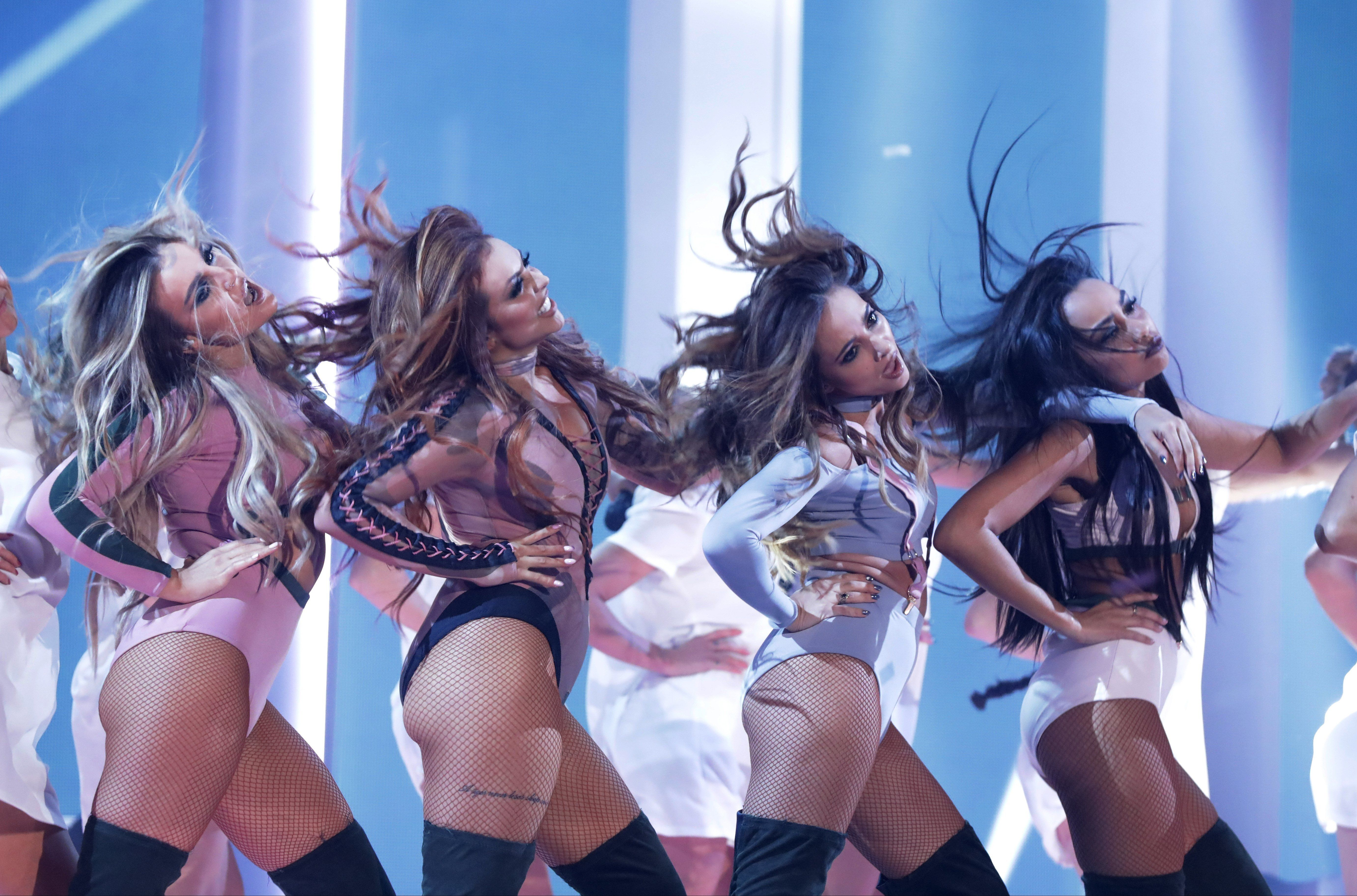 The group sported revealing outfits for their performance of