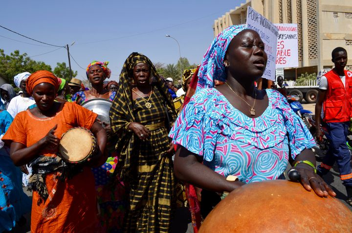 Global Convergence of Land and Water Struggles demonstration in Kaolack, Senegal, March 15, 2016