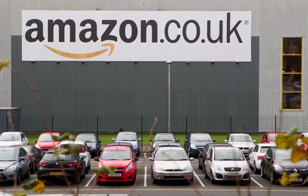 Amazon's Dumfermline warehouse, near to where the tents were
