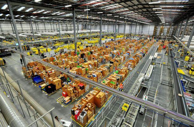 An Amazon warehouse in Hemel