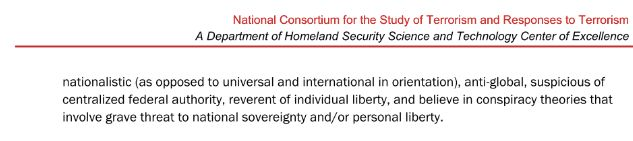 "<strong><em>Page 10 of the DHS ""Hostpots of US Terrorism"" report</em></strong>"