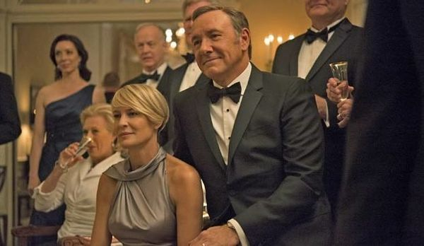 """The Globes honor """"House of Cards"""" less and less every year, but Kevin Spacey did win Best Actor — Television Series (Dr"""