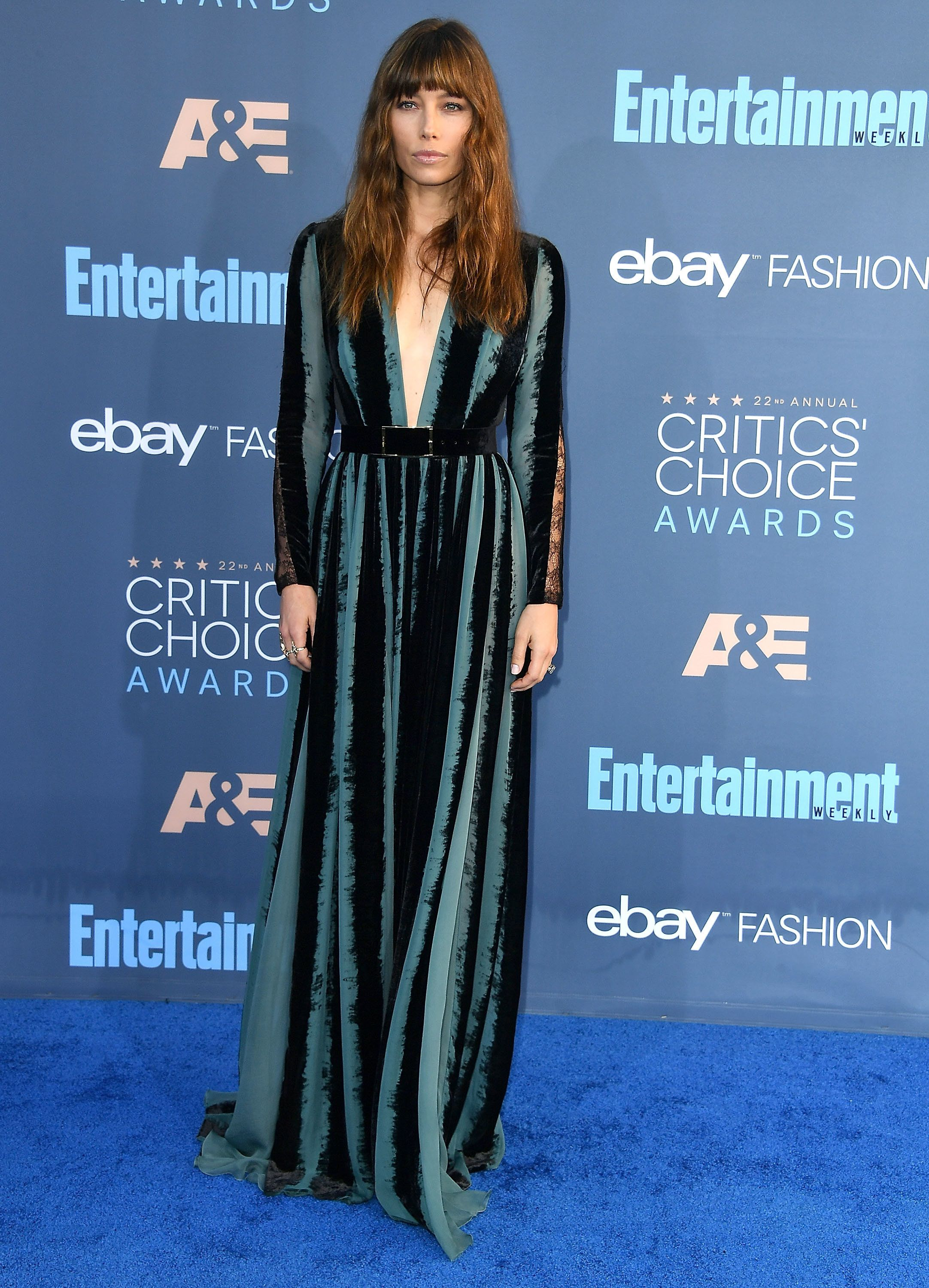 SANTA MONICA, CA - DECEMBER 11:  Jessica Biel arrives at the The 22nd Annual Critics' Choice Awards at Barker Hangar on December 11, 2016 in Santa Monica, California.  (Photo by Steve Granitz/WireImage)