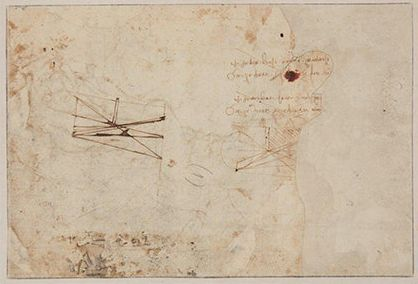 The back of the drawing shows two scientific sketches as well as notes written from right to left, as...