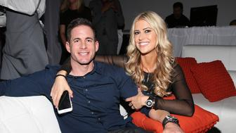 "MIAMI BEACH, FL - MARCH 12:  Christina & Tarek El Moussa of HGTV's ""Flip or Flop,"" new North American brand attend the TREND Group and Granite Transformations global rebranding and ""Immense"" product collection launch event at Temple House on March 12, 2016 in Miami Beach, Florida.  (Photo by Alexander Tamargo/Getty Images)"