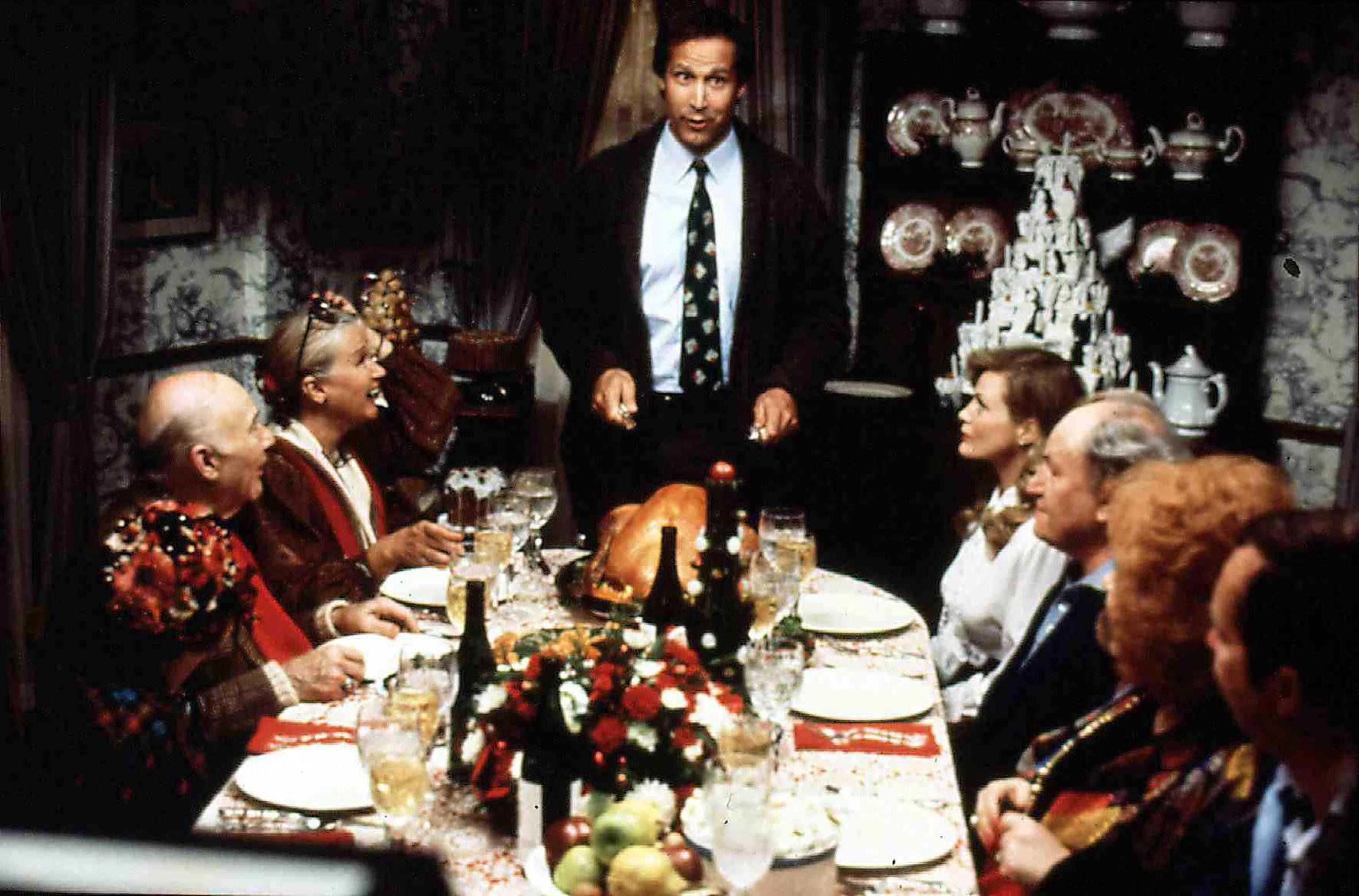 Clark Griswold (Chevy Chase) prepares for yet another disappointing holiday event.