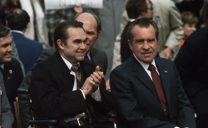 President Richard Nixon and Governor George Wallace on February, 18, 1974.