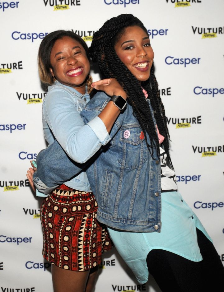 """Robinson (left) is the author of """"<a href=""""http://www.barnesandnoble.com/w/you-cant-touch-my-hair-phoebe-robinson/1123526730?"""