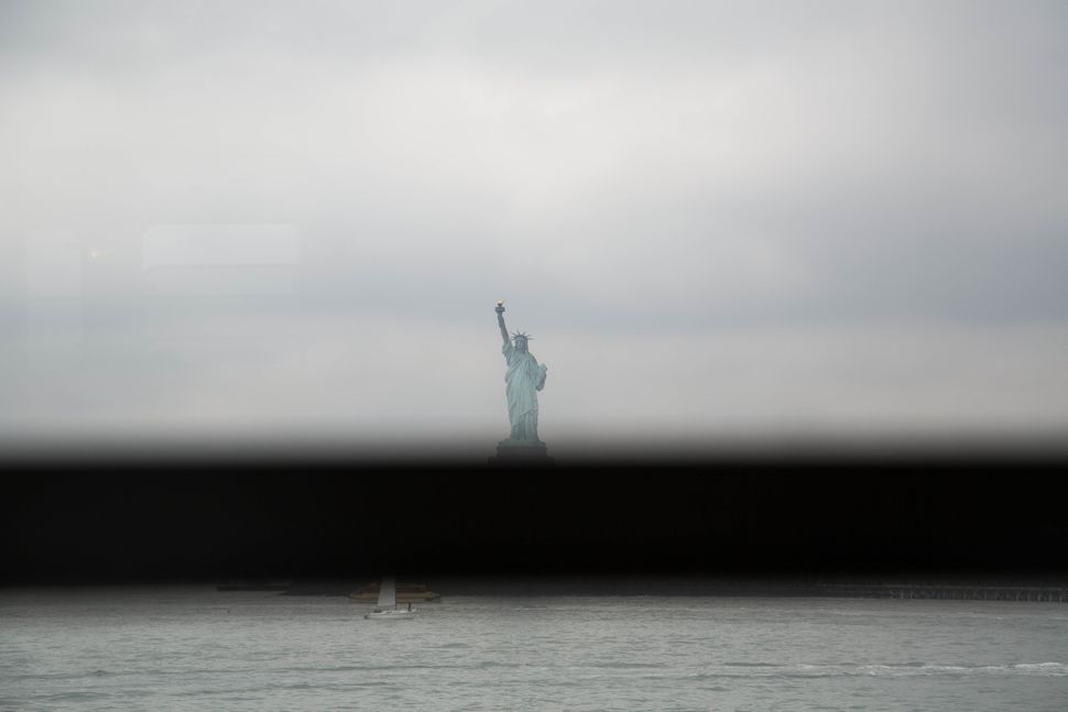 """""""Fragment of Evidence, Statue Of Liberty,"""" 2016"""