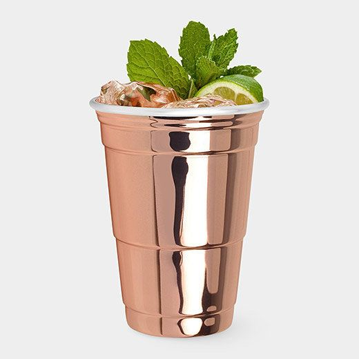 The iconic red party cup gets a serious upgrade from swoon-worthy copper. A pair of these cups makes for a lovely gift on bud
