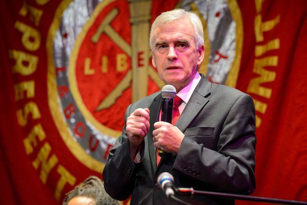 Shadow Chancellor John McDonnell speaks to Momentum 'World Transformed'