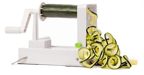 Give the gift of good health this year! The kitchen gadgetquicklytransforms vegetables and fruits into noodle-lik