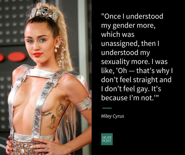 """Long an LGBTQ activist, in an October interview with Variety, <a href=""""http://www.huffingtonpost.com/entry/miley-cyrus-gender"""