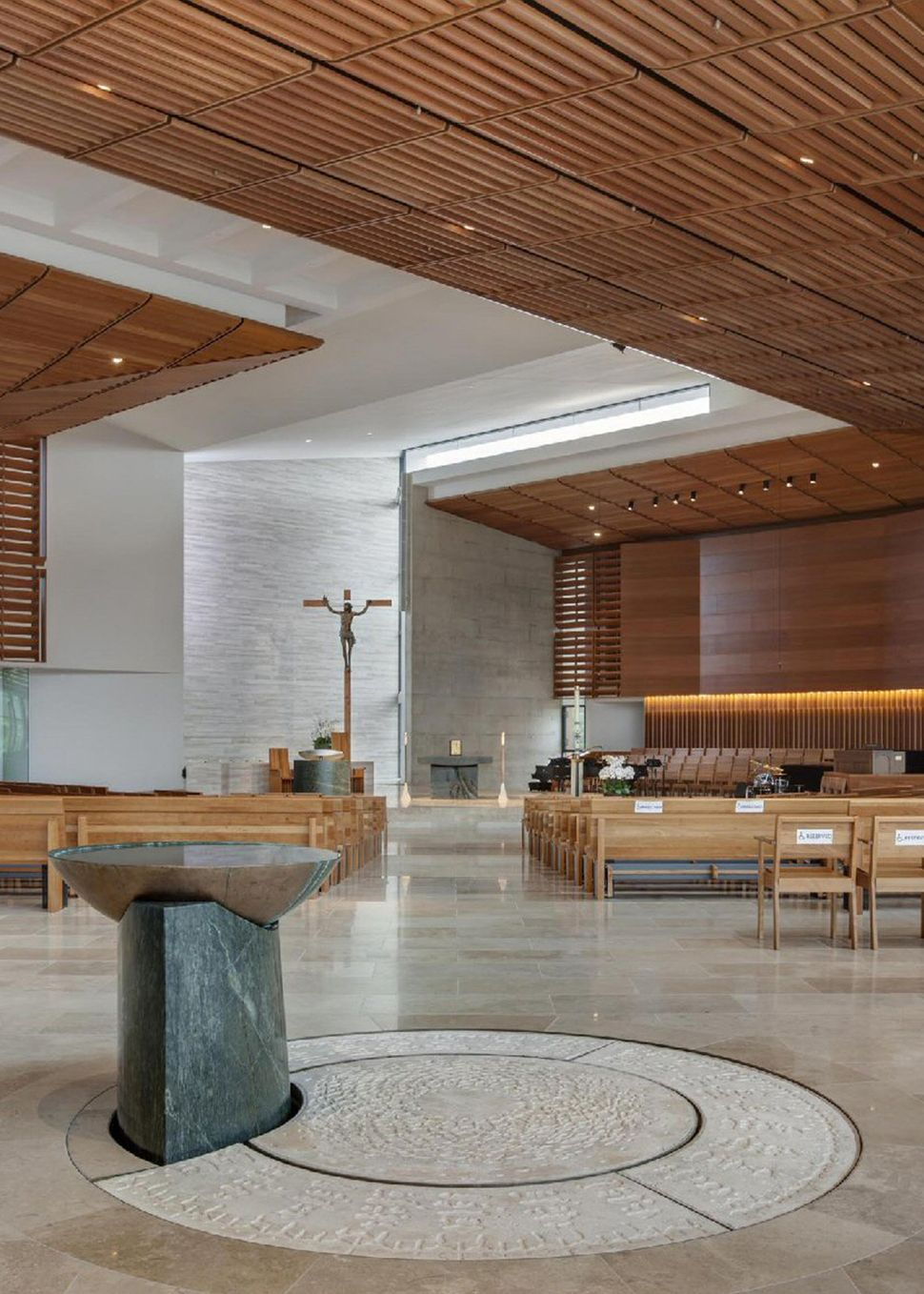 Dekker / Perich / Sabatini; Baptismal Font; St. Thomas More Catholic Church; Oceanside, California; Liturgical Furnishings