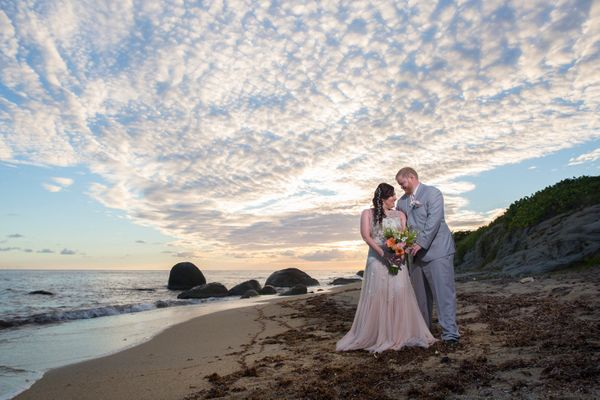 """Nichole Pelletier and Trent Hunter of Virginia were married in Vieques, Puerto Rico on Sunday, Dec. 4."" -- <i>planner</i>&nb"