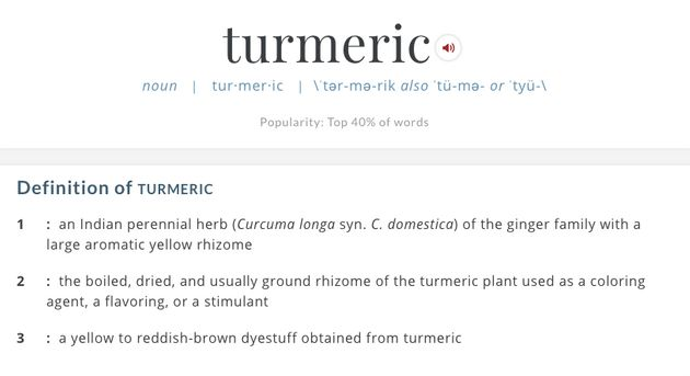 We were totally wrong about how to pronounce turmeric for Terrace pronunciation