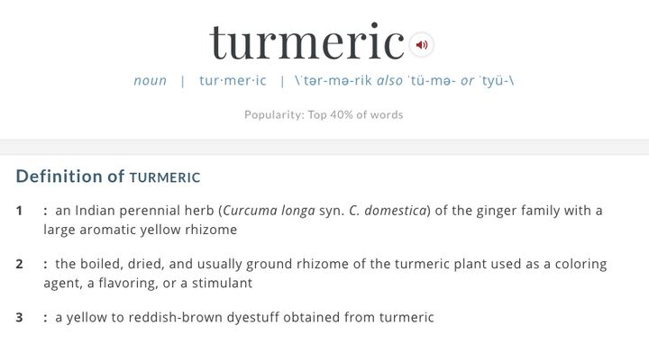 We Were Totally Wrong About How To Pronounce Turmeric