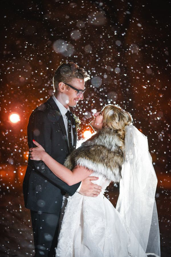 """Lindsay and Evan were married on Dec. 10 during our first large snowfall of the year. They held their reception at South Sho"