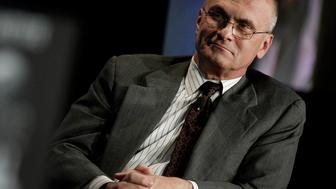 Andrew Puzder, chief executive officer of CKE Restaurants Inc., listens during a panel discussion at the annual Milken Institute Global Conference in Beverly Hills, California, U.S., on Monday, April 30, 2012. The conference brings together hundreds of chief executive officers, senior government officials and leading figures in the global capital markets for discussions on social, political and economic challenges. Photographer: Jonathan Alcorn/Bloomberg via Getty Images