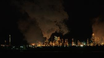 The Tesoro oil refinery in Anacortes Washington