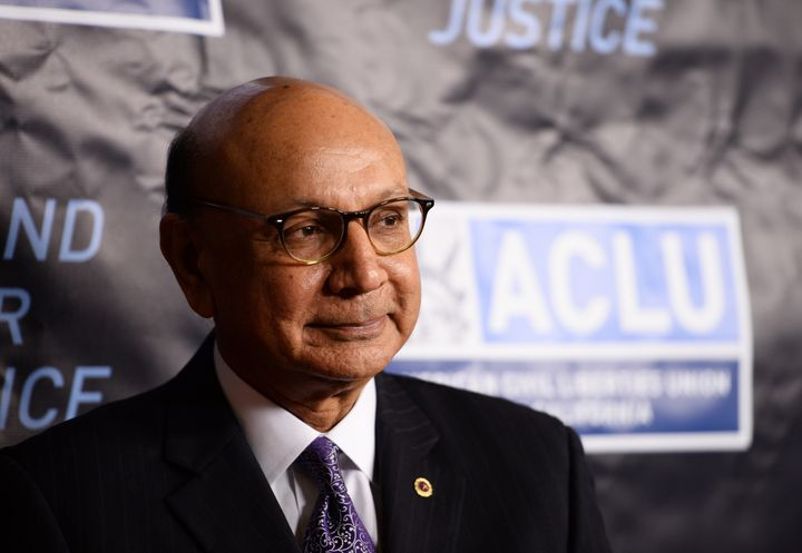 Khizr Khan attends the ACLU SoCal's 2016 Bill of Rights Dinner at the Beverly Wilshire Four Seasons Hotel on Nov. 13, 2016.