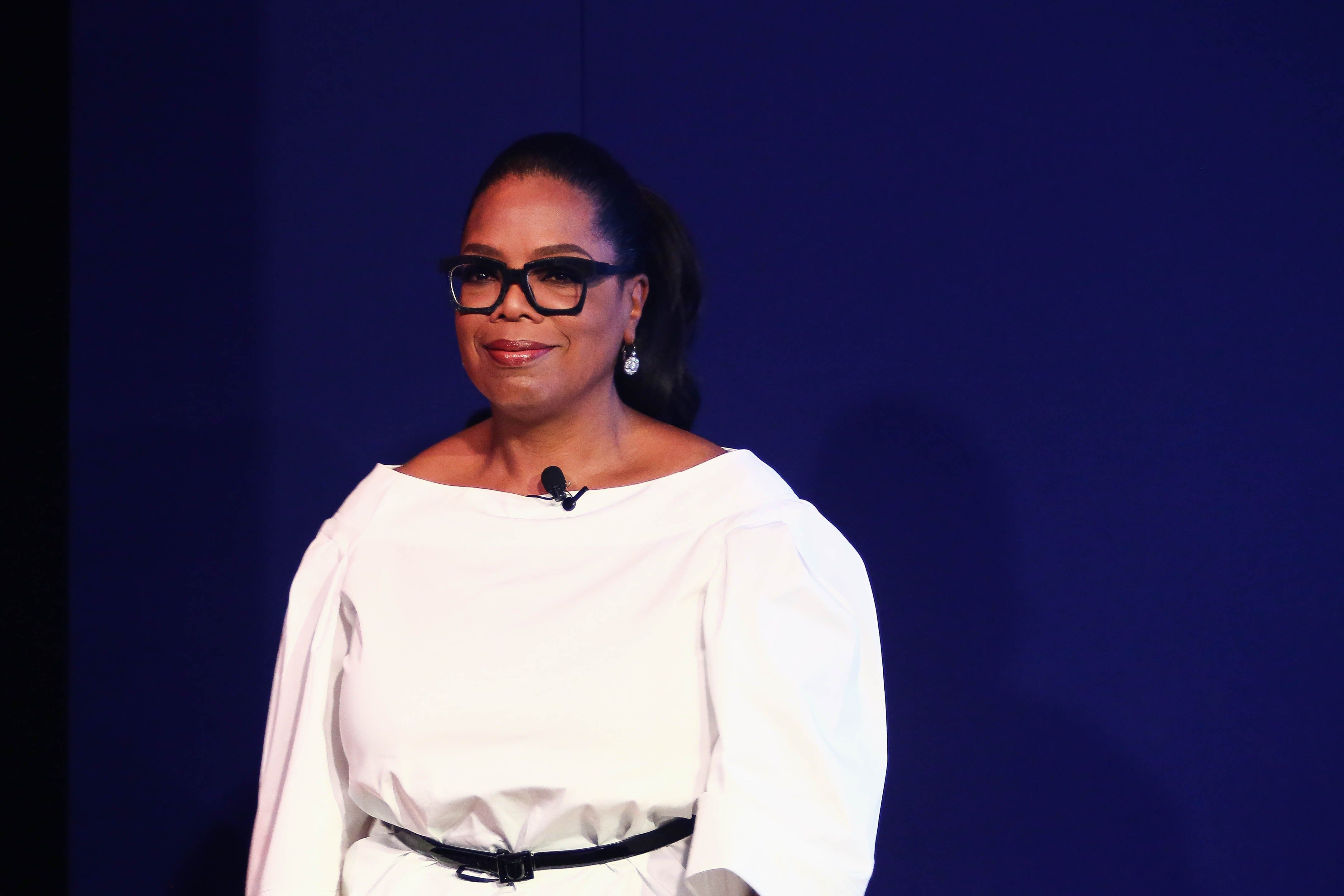 JOHANNESBURG, SOUTH AFRICA  DECEMBER 02: (SOUTH AFRICA OUT): American talkshow host Oprah Winfrey during a Dreams programme event at the Premier Hotel in OR Tambo Airport on December 02, 2016 in Johannesburg, South Africa. Winfrey surprised the youth ambassadors enrolled in the US embassy HIV awareness programme aimed at reducing the HIV infection in adolescent girls when she shared her inspirational story of overcoming poverty and sexual assault. (Photo by Moeletsi Mabe/Sunday Times/Gallo Images/Getty Images)