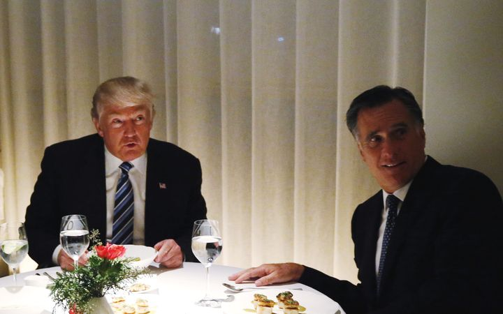 Donald Trump and Mitt Romney dine at Trump Tower while the two were still discussing the secretary of State post.