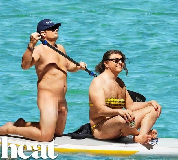 Alan And David Recreate THAT Naked Orlando Bloom Paddle Board