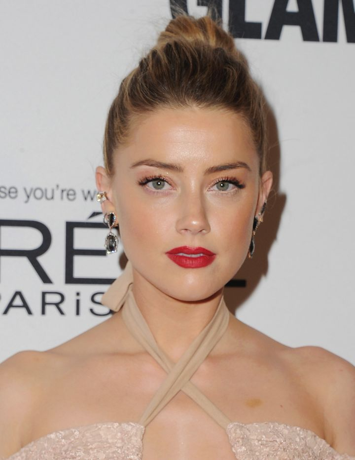 Amber Heard arrives at Glamour Women Of The Year 2016.