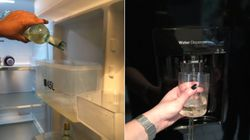 Genius Woman Turns Fridge Into Instant Wine