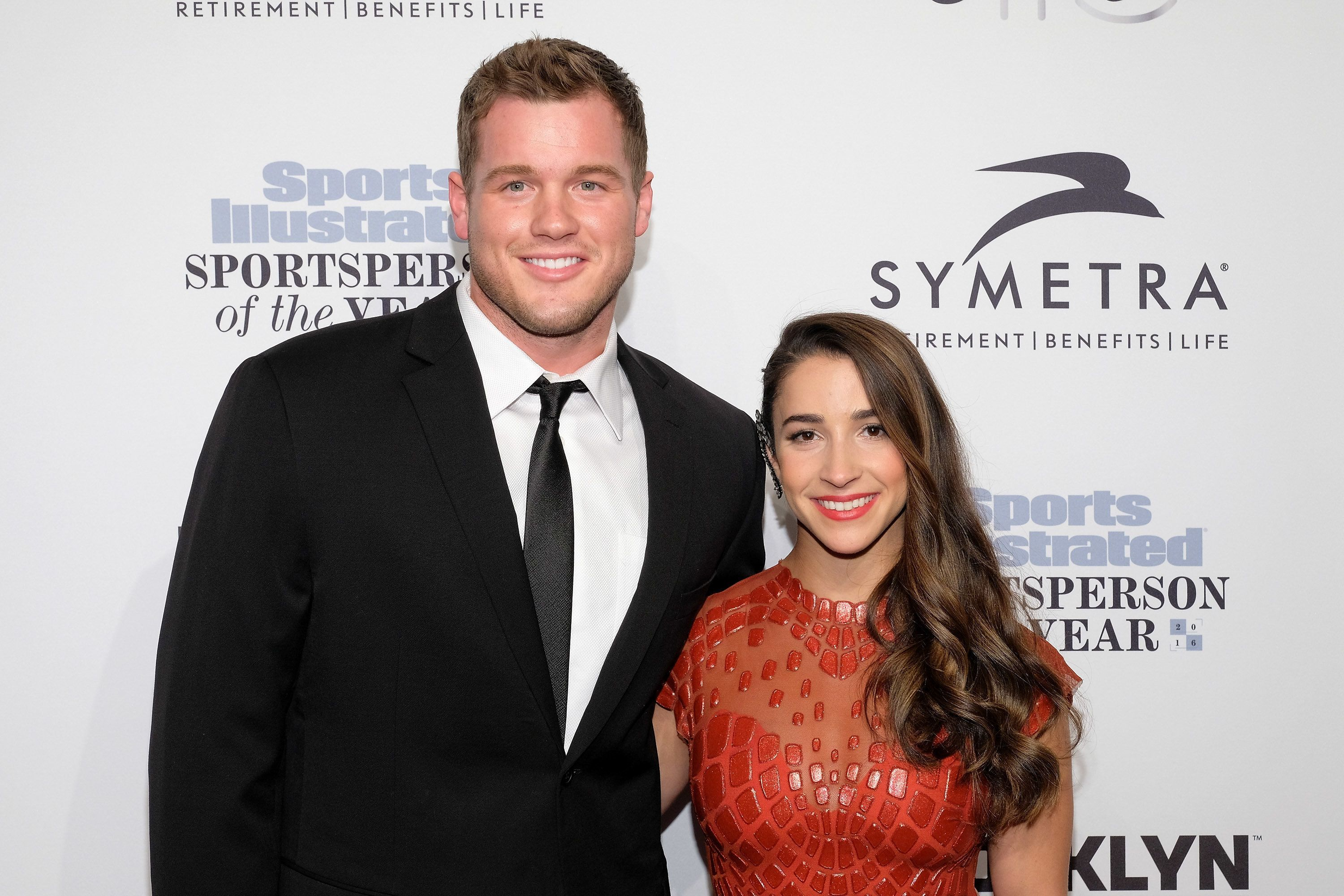 NEW YORK, NY - DECEMBER 12:  Colton Underwood (L) and Aly Raisman attend the 2016 Sports Illustrated Sportsperson of the Year at Barclays Center of Brooklyn on December 12, 2016 in the Brooklyn borough of New York City.  (Photo by D Dipasupil/FilmMagic)