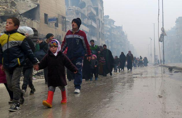 Men, women and children fleeing violence in