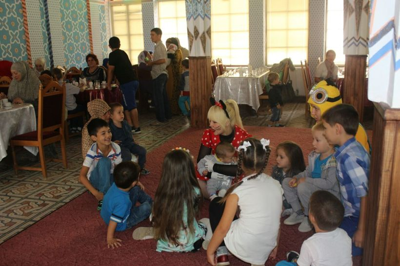 Tatars children celebrating Eid El Adha in last September with the support of the Foundation for Ethnic Understanding